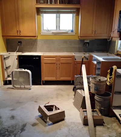 Kitchen remodel during