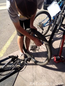 Changing Bike Tire